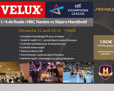 HBC Nantes – Skjern : Informations VIP