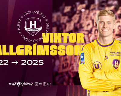 Viktor Hallgrimsson et Ivan Pesic au HBC Nantes en 2022
