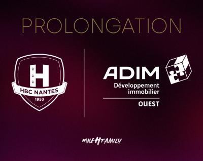 ADIM Ouest renouvelle son partenariat avec le HBC Nantes