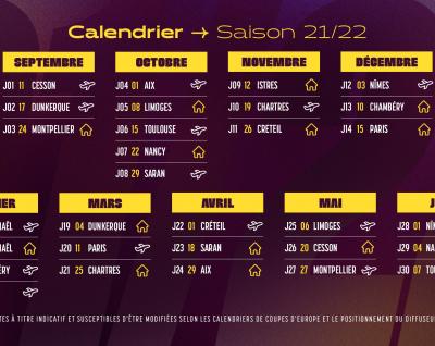 Le calendrier du championnat 21-22 est connu !