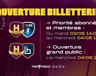 Ouverture billetterie : Montpellier & Limoges
