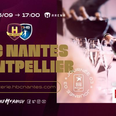 """Offre découverte """"VIP Lounge"""" pour le choc HBC Nantes - Montpellier"""