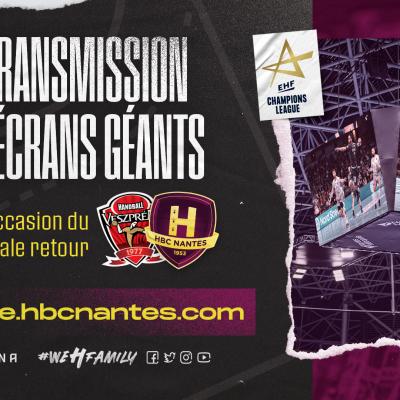 Le 1/4 de finale retour en direct à la H Arena !