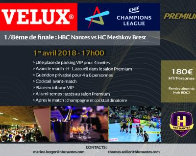 HBC Nantes – Meskhov Brest : Informations prestation VIP