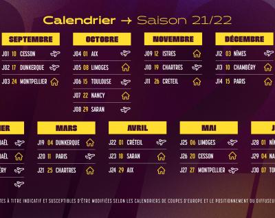 Le calendrier de Liqui Moly StarLigue 21-22 est connu