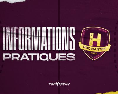 HBC Nantes - Saint Raphaël : Infos pratiques